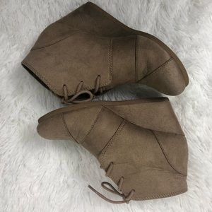City Classified Wedge Booties